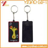 Le catene chiave di gomma su ordinazione di Keychains, 2D o del PVC 3D, personalizzano la catena chiave di gomma