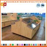Supermercado de madeira elegante visor de vegetais e frutos estantes Rack (Zhv11)