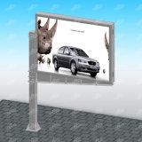 Publicidad de la visualización de la bandera del marco del metal de la estructura de la cartelera