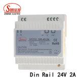 단 하나 출력 전력 공급을 거치하는 45W 24V 2A DIN 가로장