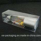 주문을 받아서 만들어진 투명한 플라스틱 상자