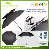 Qualitäts-doppelter Rippen-doppelte Schicht-starker windundurchlässiger Golf-Regenschirm
