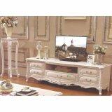 ホーム家具のための側面のワインのキャビネットが付いている木TVの立場