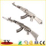 훈장을%s 금속 전자총 AK-47 공격 소총 Keychain 장신구