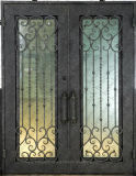国際的なブランドの直接供給の内部のアーチのロックが付いている上の二重錬鉄のドア