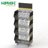 Supermarkt-überzogene stapelnde Draht-Korb-Plastikzahnstange