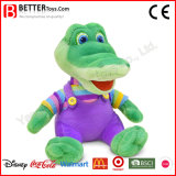 Crocodilo Cuddletoy macio do luxuoso do animal enchido para miúdos do bebê