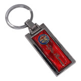 Progettare il metallo per il cliente in bianco Keychain Keychain in lega di zinco di marchio