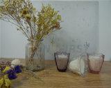 Kop 100% van het glas de Gebemerkte Kaarsen van de Soja Was