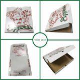 Caixa colorida da pizza do papel do produto comestível