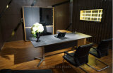 Nuevo estilo de cuero moderna mesa de la Oficina de MDF (V9).