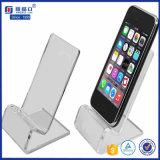 Accessori acrilici in bianco trasparenti del telefono del basamento del telefono delle cellule