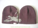 昇進の印刷された100%のアクリルの冬の帽子によって編まれる帽子