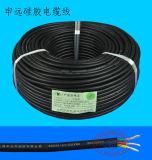 200c câble de fil électrique de lampes des silicones DEL