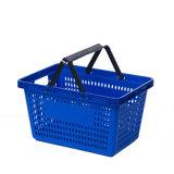 Cesta de compra plástica do punho da alta qualidade da alameda de compra