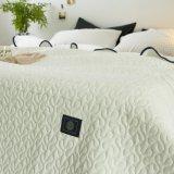Édredon 100% piqué blanc de coton de type américain pour des literies