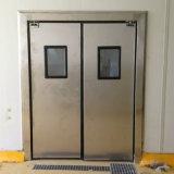 Edelstahl-Auswirkung-Verkehrs-Tür-Schwingen-Tür