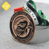 Custom сувенирный цикла мягкой эмали футбол футбол золотой медали при работающем двигателе