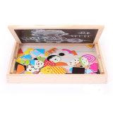 Prancheta magnética de madeira Puzzle lateral duplo crianças brinquedos educativos