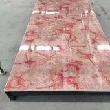 Cadena de producción de mármol de la hoja del PVC de la piedra interior plástica de la piedra decorativa