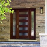 Porte en bois solide d'intérieur, modèle de porte de rupteur d'allumage pour la chambre à coucher