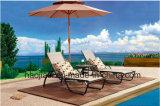 屋外の/Rattan/庭は/テラス/ホテルの家具のTexileneの布のラウンジチェア及び側面表セットした(HS 2028CLの&HS 6050ET)