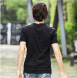 Magliette del cotone degli uomini stampate abitudine casuale