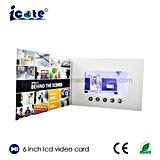 Folleto video vendedor superior del Tarjeta-Vídeo del Tarjeta-LCD del saludo video de la pulgada TFT LCD de los productos 6
