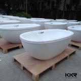 Vasca da bagno di pietra bianca di lusso di massaggio della resina indipendente (BT170816)