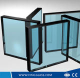 빈 격리 유리 안전에 의하여 부드럽게 하는 박층으로 이루어지는 또는 진공 유리