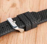 16 мм 18 мм 20 мм 22 мм резиновые Watchband Мужчины Женщины мягкий военного спорта снаряжение для дайвинга водонепроницаемые браслет на запястье силиконовый ремешок черного канала в шинах