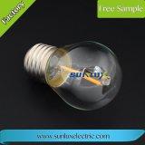G45 Edison E14 램프 E27 LED 필라멘트 Dimmable 유리 초