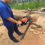 la chaîne en bois de découpage du gaz 45cc a vu des outils de jardinage