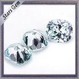 高品質宝石類のためのクッションによって切られる淡いブルーのCZの石