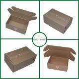 Caixa de envio pelo correio corrugada Kraft feita sob encomenda de Brown da impressão para o transporte