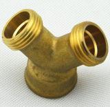Conector común masculino de cobre amarillo del manguito del conector Y de la cuerda de rosca Y