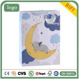 Мешки подарка искусствоа магазина одежды детей слона луны бумажные
