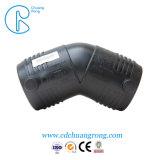 HDPE 천연 가스 플라스틱 관 이음쇠 45 도 팔꿈치