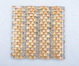 Cor de ouro como Cachoeira Mosiacs Telhas Onduladas Kasaro Mosaico de vidro