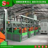 Máquina de pulverização de borracha Turnkey para recicl o pneu da sucata
