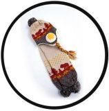 El ganchillo al aire libre determinado hecho punto caliente de Earflap del sombrero de la bufanda de la gorrita tejida del invierno del bebé de los niños de los cabritos de la impresión linda de la nieve capsula el sombrero del aviador del esquí (HW616)