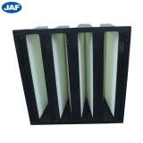 China Factory Price V-Bank Kunststoffrahmen kompakter Luftfilter