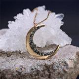 Celestes constelação de jóias de ouro Colar lua em quarto crescente colar para o MOM jóias dons