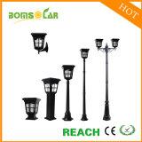 L'aluminium colonne solaire Dispositif d'éclairage/ lampe solaire Post/ Jardin lumière LED solaire/ Patio Rue lumière solaire