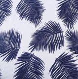 Comercio al por mayor de tejido mezcla de hojas impresas Stocklot Rayón vestido tejido de algodón
