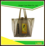 O melhor saco de compra do saco de Tote de serapilheira da juta da qualidade