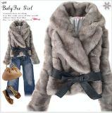 Fashion luxueux Ladies' manteau de fourrure chaude (T8191)