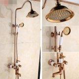 Медный Polished роскошный Faucet ливня ванны