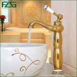 Flg Basin robinet classique d'or à levier unique salle de bains robinet