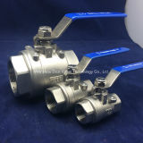 2PC High Pressure Ball Valve mit Cer Certificate